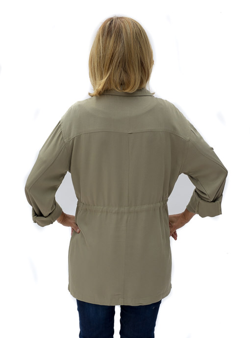 Olive Two Pocket Cargo Jacket